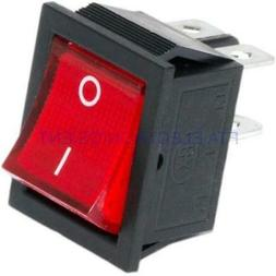 Red Button On-Off 4 Pin DPST Boat Rocker Switch For 16A 250V