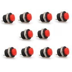 10x Red Momentary On/Off Push Button Temporary Reset Switch