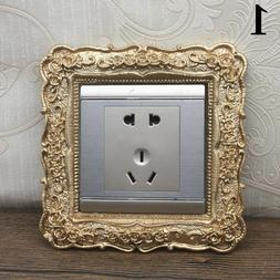 Resin Single Switch Surround Socket Finger Plate Panel Cover