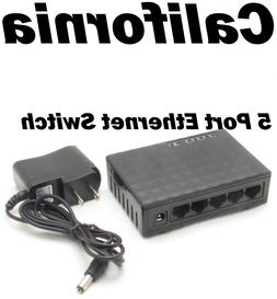 RJ45 Mini 10/100Mbps 5 Ports Fast Ethernet Network Switch Fo