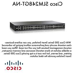 Cisco SF200-48 Smart Switch. SF200-48 SLM248GT-NA 48PORT 10/