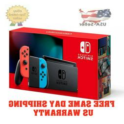 *Ships Today!* Nintendo Switch w/ Neon Red and Blue Joy-Con