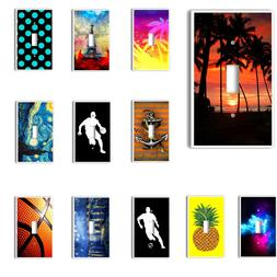 Single Light Switch Plate Cover Dr Who Sports Art & More Des