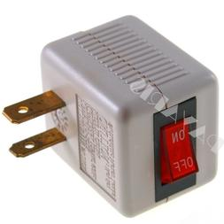Single Outlet Wall Tap Adapter With Lighted Switch 110 125V