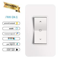 Smart LED Light Dimmer WiFi Wall Touch Switch 1Gang Work Wit