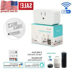 Smart Mini WiFi Plug Outlet Switch work with Echo Alexa Goog