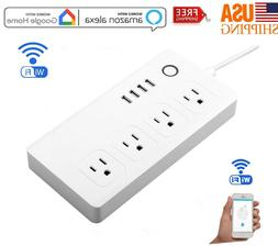 Smart Plug WiFi Socket 4 Outlet Remote Control Switch Timer