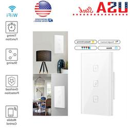 Smart WiFi Dimmer Light Switch Remote Alexa Google Home Voic