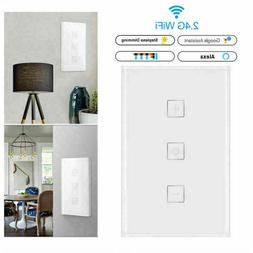 Smart Wifi Enabled Dimmer Switch Compatible with Alexa Googl