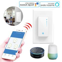 Smart WiFi LED Light Switch Dimmable Touch Control for Alexa
