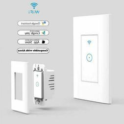 Smart WIFI Wall Light Touch Panel Switch App Time Socket For