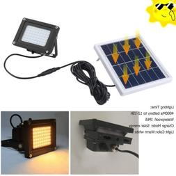 Solar Powered 54-LED IP65 Digital Automatic Switch Outdoor S
