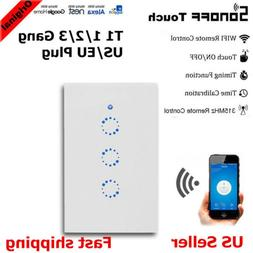 Sonoff Touch T1 US/EU 1/2/3 Gang Wifi RF Wall Touch Light Sw