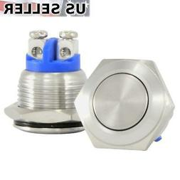 16mm Starter Switch / Boat Horn Momentary Push Button Stainl