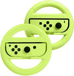 AmazonBasics Steering Wheel for Nintendo Switch - Neon Yello