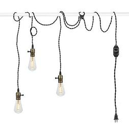 Supmart Vintage Pendant Light Kit Cord with Dimming Switch a
