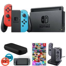 Nintendo Switch 32 GB Console w/ Neon Blue and Red Joy-Con +