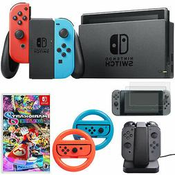 Nintendo Switch 32 GB Console with Neon Blue/Red Joy-Con + M