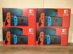 switch 32gb console neon red and blue