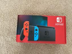 Nintendo Switch Console - Black with Neon Blue and Neon Red