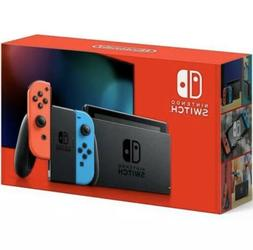 Nintendo Switch Console With Neon Red and Blue Joy Con New S
