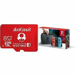 Nintendo Switch – Neon Red and Neon Blue Joy-Con with 128G
