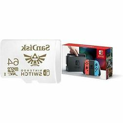 Nintendo Switch – Neon Red and Neon Blue Joy-Con with 64GB