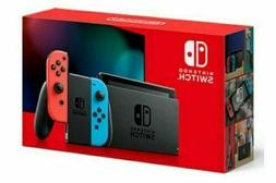 Nintendo Switch V2 32GB Console w/ Neon Blue & Neon Red Joy