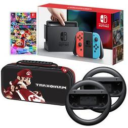 Nintendo Switch Bundle: 32GB Console Red and Blue Joy-Con, N