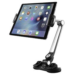 Luxitude Tablet & Phone Holder with Suction Cups & 360 Degre