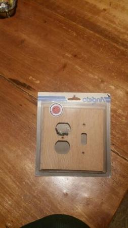 Angelo Toggle Switch Duplex Outlet Genuine Wood Wall Plate C