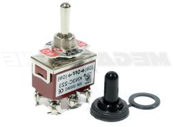 Toggle Switch Heavy Duty 20A/125V Momentary DPDT -OFF- w/Wat