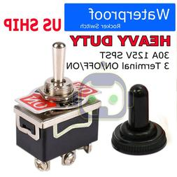 Toggle SWITCH ON/OFF/ON Heavy Duty 20A 125V SPDT 3 Terminal