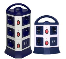 Tower Power Strip USB Outlets EU Socket with USB 2 Ports Ind