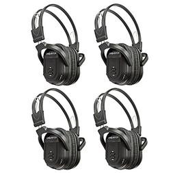 KeyAudio 2 Channel Folding IR Wireless Headphones for In Car