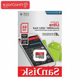 SanDisk Ultra 64GB C10 UHS-I A1 Micro Sd Card For Nintendo S