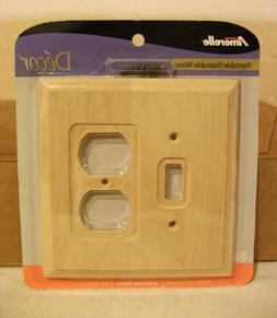 Amerelle unfinished wood wall plate - Electrical plate for s