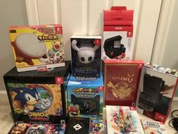 US and Japan Nintendo Switch Games Mega Bundle w Console Ext