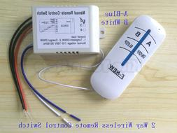 US Standard 110V Wireless Remote Control 2/3 way lamp switch