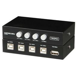MagiDeal 4 Port USB Sharing Switch USB 3.0 Peripheral Switcher Adapter Box