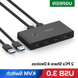 UGREEN USB 3.0 Sharing Switch Selector 4 Port 2 PCS Peripher