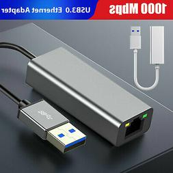 USB 3.0 to RJ45 Ethernet LAN Cable Network Adapter to 1000 M