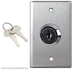 WALL KEY ON OFF LOCK SWITCH HOME 110/125V ELECTRICAL TOGGLE