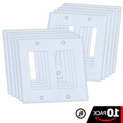 ESD Tech 10 Pack Wall Plate Covers for Light Switches and Ou