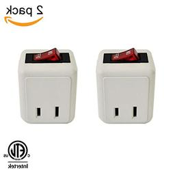 Uninex Wall Tap Outlet W/Turn ON/OFF Switch Power Adapter 2