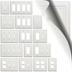 White Chelsea Wallplate Decorator Light Switch Plate Cover T