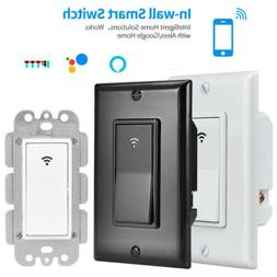 WIFI Smart Wall Light Touch Switch App Timer 1 Gang Alexa Go