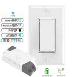 Wireless Light Switch Kit : Self-Powered Switch & WiFi Recei