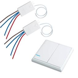 Wireless Power Switch Kit Home Wall Light Lamp LED Remote Co