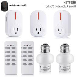 1,4,5 Pack Wireless Remote Control Electrical Outlet Power S